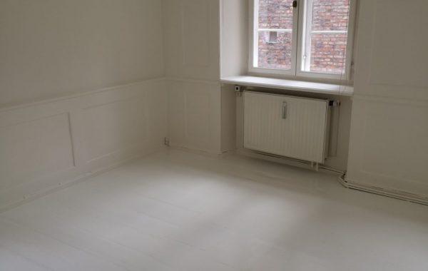 Maler Sorø, værelse efter maling